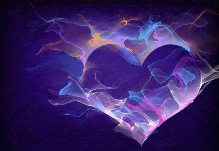 purple fire heart